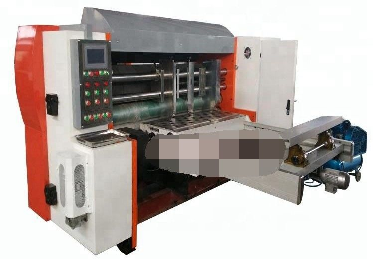 Auto Corrugated Box Die Cutting Machine , Printing Slotting Die Cutting Machine