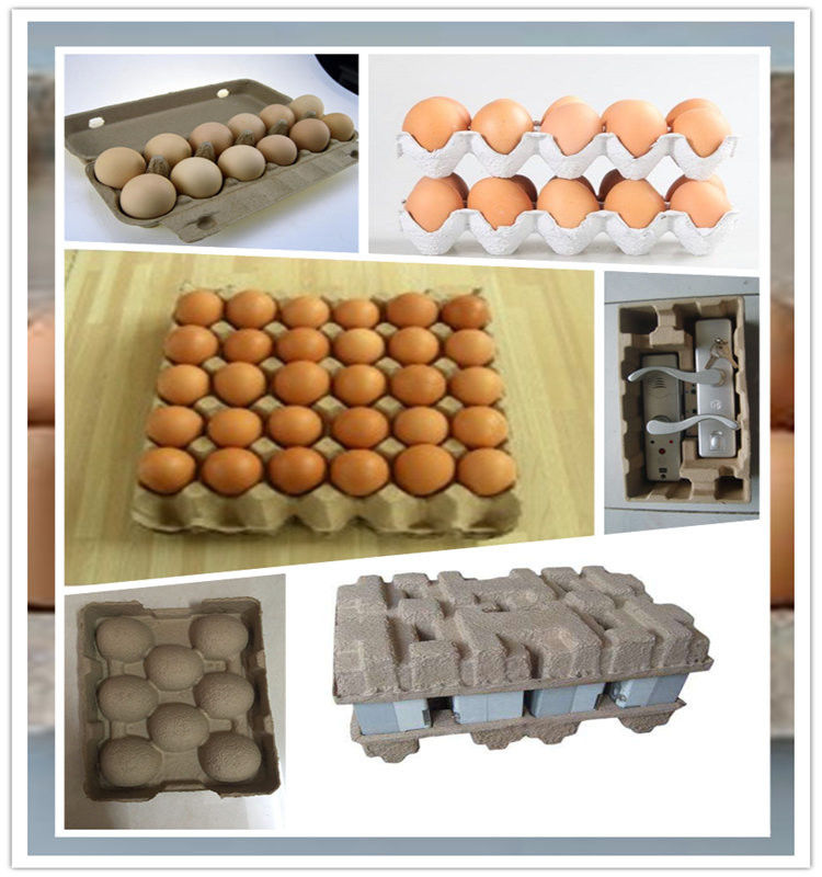 Recycling Waste Paper Egg Tray Machine / Reciprocating Egg Paper Tray Machine