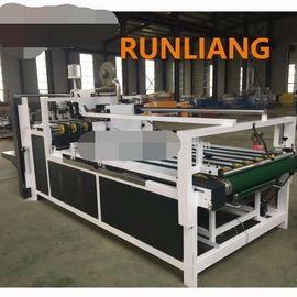 Semi Automatic Corrugated Box Gluing Machine , Carton Folding And Gluing Machine
