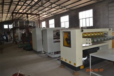 China 3 Layer Corrugated Paperboard / Cardboard Boxes Manufacturing Machine Semi Auto factory