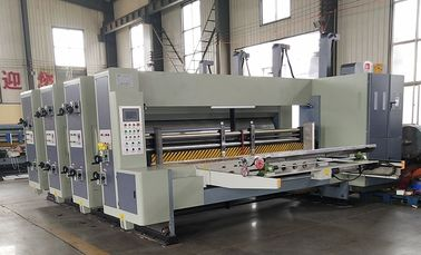 China 2 / 3 / 4 Color Digital Paper Flexo Printer Slotter Die Cutter Equipment High Productivity factory