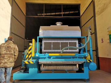 Rotary Forming Egg Tray Machine , Egg Carton Making Machine Long Service Life